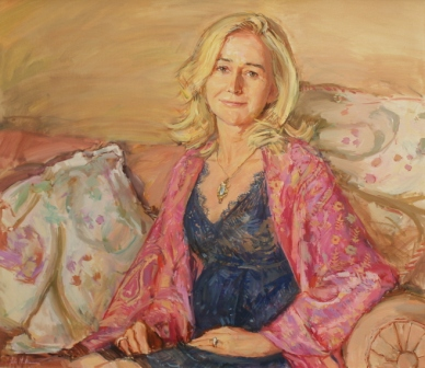 Portrait of a woman in oils
