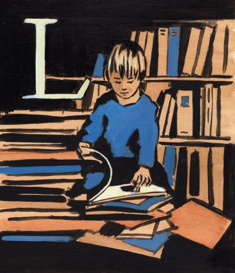 Children's illustration letter L