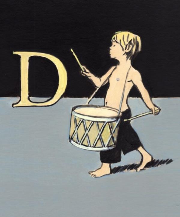 Alphabet Print Example - Letter D