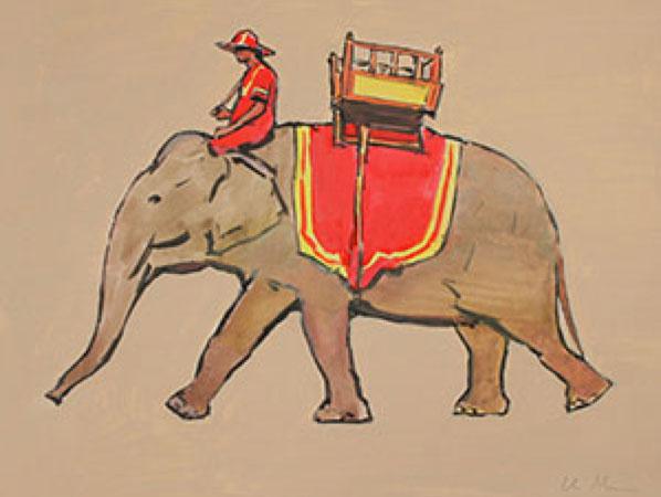 Grey Elephant Limited Edition A3 Print