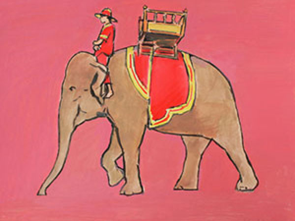 Pink Elephant Limited Edition A3 Print